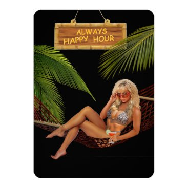 Beach Themed Happy Hour on the Beach Card