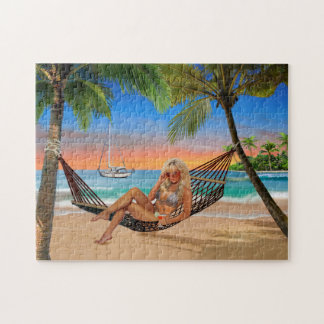 Happy Hour on the Beach Jigsaw Puzzle