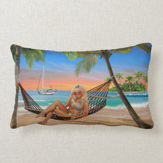 Happy Hour on the Beach Lumbar Pillow