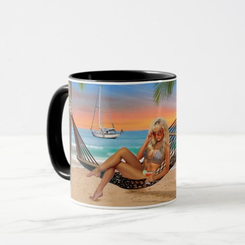 Happy Hour on the Beach Mug