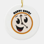 Happy Hour! Double-Sided Ceramic Round Christmas Ornament