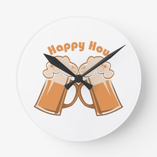 Happy Hour Round Clock