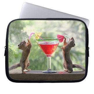 Happy Hour Squirrels Computer Sleeve