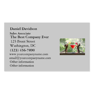 Happy Hour Squirrels Double-Sided Standard Business Cards (Pack Of 100)