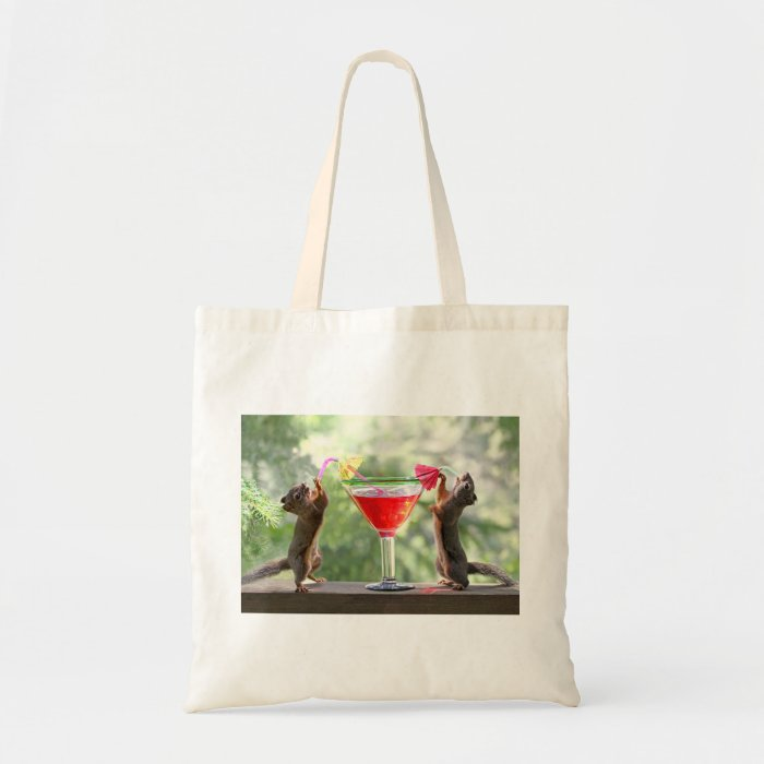 Happy Hour Squirrels Tote Bag