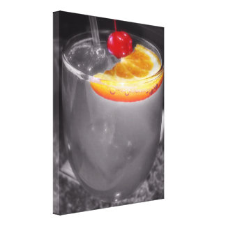 Happy Hour Unique Alcoholic Cocktail Party Drink Stretched Canvas Print