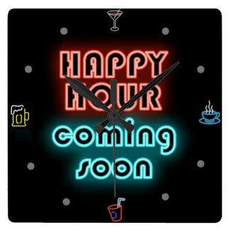 Happy Hour - Wall Clock