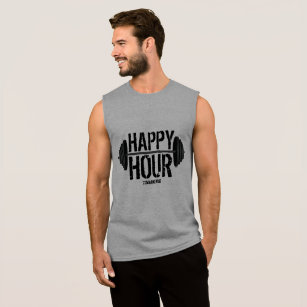 96d3465511b Happy Hour Weightlifting Barbell Gym Workout Mens Sleeveless Shirt