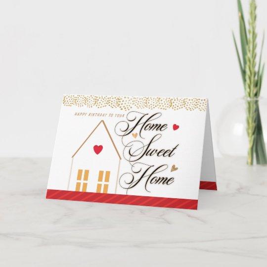 happy house birthday from realtor thank you card  zazzle