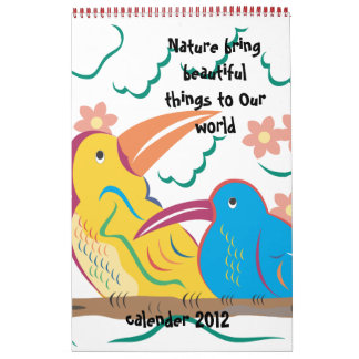 Happy House Calender 2012 Wall Calendar