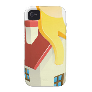 Happy house person iPhone 4 case