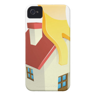 Happy house person Case-Mate iPhone 4 case