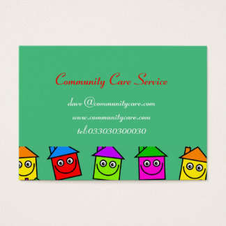 Happy House Wallpaper Business Cards