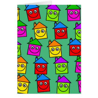 Happy House Wallpaper Card
