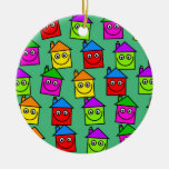 Happy House Wallpaper Christmas Ornaments
