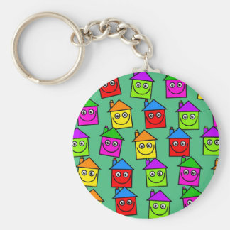 Happy House Wallpaper Keychain