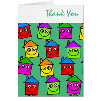 Happy House Wallpaper, Thank You Greeting Card