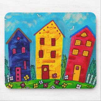 Happy Houses Mouse Pad