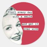 Happy Housewife Retro Humor Sticker