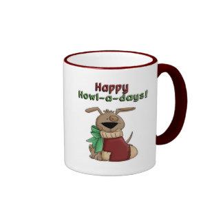 Happy Howl-a-Days Pooch Coffee Mugs