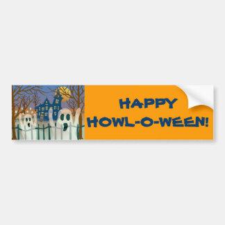 Happy Howl-O-Ween Bumper Sticker