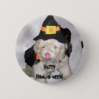Happy Howl-o-ween! Pinback Button