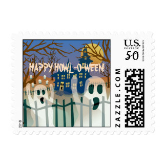 Happy Howl-O-Ween Postage