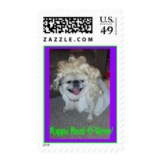 Happy Howl-O-Ween! Pug Marilyn Stamp