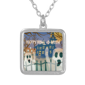 Happy Howl-O-Ween Silver Plated Necklace