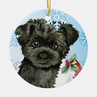 Happy Howliday Affenpinscher Christmas Tree Ornaments