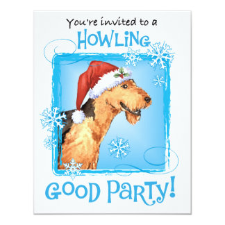 Happy Howliday Airedale Card