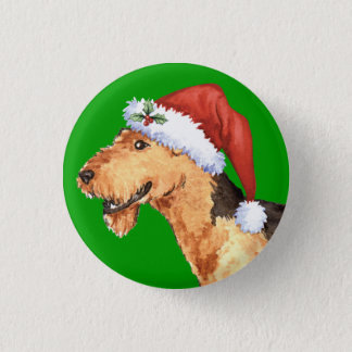 Happy Howliday Airedale Pinback Button
