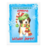 Happy Howliday Beagle Personalized Announcement
