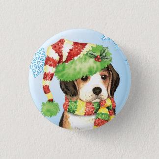 Happy Howliday Beagle Pinback Button