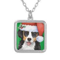 Happy Howliday Berner Custom Necklace