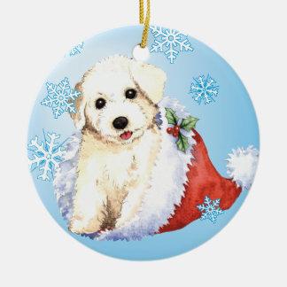 Happy Howliday Bichon Christmas Ornament