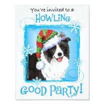 Happy Howliday Border Collie Card
