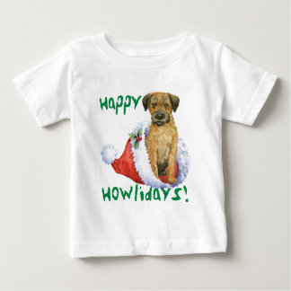 Happy Howliday Border Terrier Infant T-shirt
