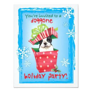 Happy Howliday Boston Terrier Card
