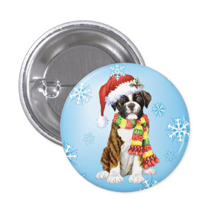 Happy Howliday Boxer Button