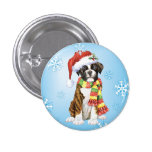 Happy Howliday Boxer Pinback Buttons