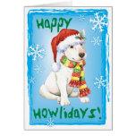 Happy Howliday Bull Terrier Greeting Card