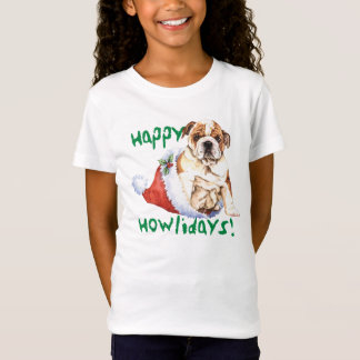 Happy Howliday Bulldog T-Shirt