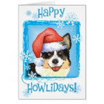 Happy Howliday Cardigan Welsh Corgi Greeting Card