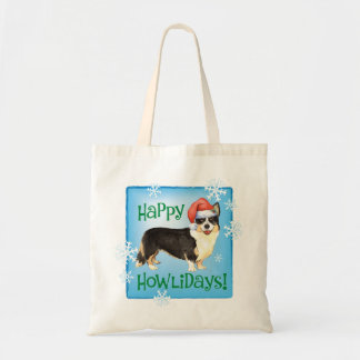 Happy Howliday Cardigan Welsh Corgi Tote Bag