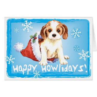 Happy Howliday Cavalier Card