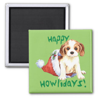 Happy Howliday Cavalier Magnet