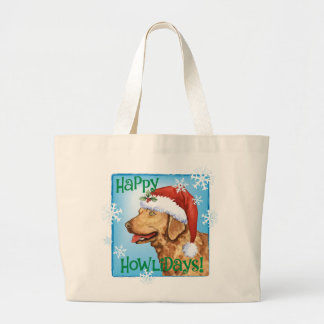 Happy Howliday Chessie Large Tote Bag