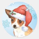 Happy Howliday Chihuahua Classic Round Sticker