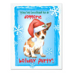 Happy Howliday Chihuahua 4.25x5.5 Paper Invitation Card
